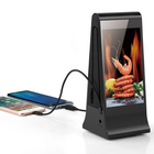 20800mAh Vertical Screen Daul 7 Inch Advertising Video Player Support Display Different Contents