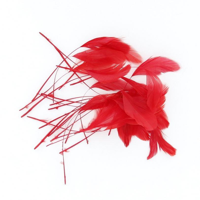 Горячая! 30 шт. окрашенная петух петух коке 4.3 - 7.5 дюймов красный
