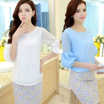 C64915a Women Casual Blouse Designs For Office - Buy ...