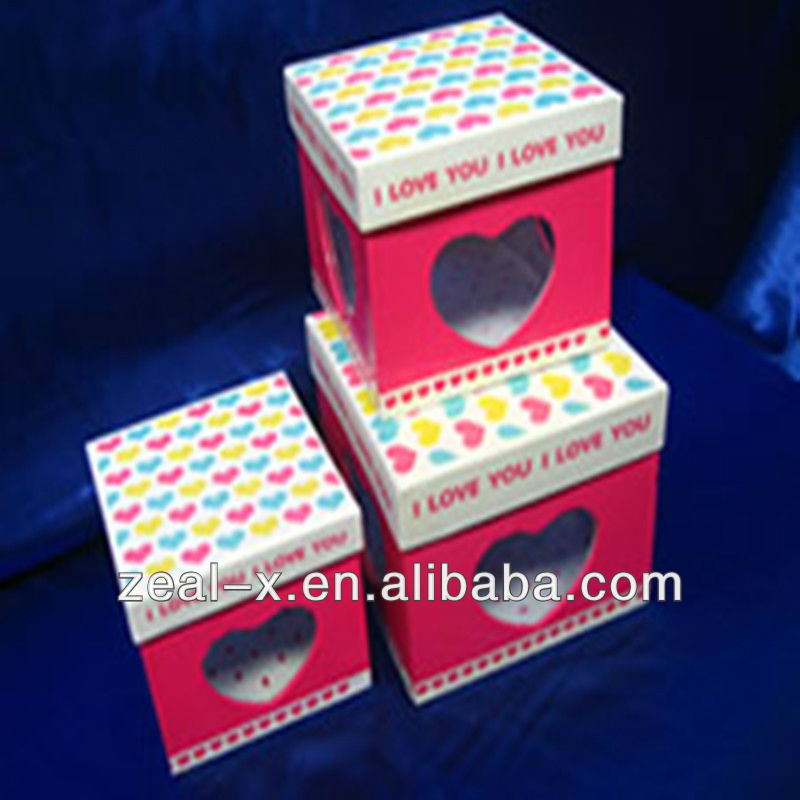 window display hat type small gift box&case