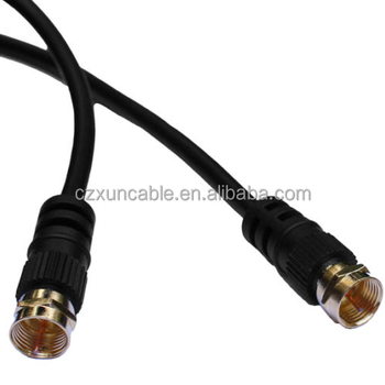 f plug connector gold plated satellite lead coaxial cable buy f rh wholesaler alibaba com Three Pin Plug Wiring Three Pin Plug Wiring