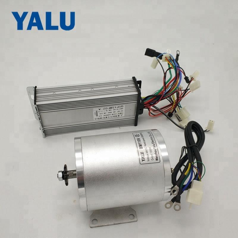 YALU BM1109 2000W Brushless Motor 48V Electric E scooter BLDC Motor with Controller for Comversion DIY EBike Kit
