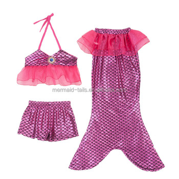 166ebf8387590 Baby girls mermaid swimming suits with bow sets mermaid bathing suit kids  and children Mermaid swimsuit