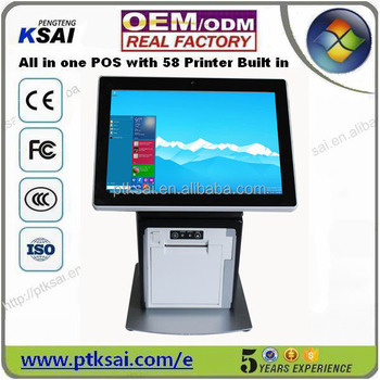Printer Built In 9.7 Inch Capacitive Touch All In One Pos,Android ...