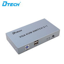 Fornitore della cina 1080 p 4 k Audio Video Mixer Switcher <span class=keywords><strong>Vga</strong></span> 2 di Ingresso 1 Uscita Usb Kvm Switch