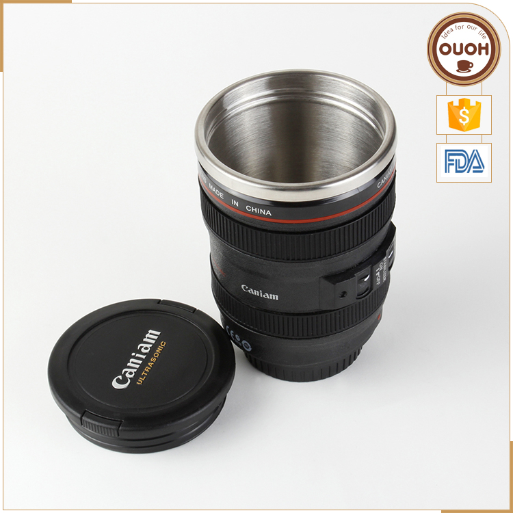 Wholesale Funny Design 24-105mm Camera Lens Coffee Mug New Year Christmas Day Gift