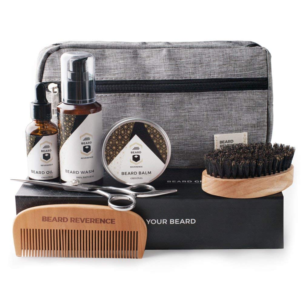 dcd53373d161 Buy Beard Care Kit and Grooming Set with Travel Bag | Beard ...