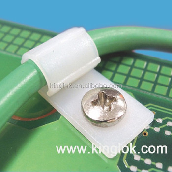 plastic screw tie mount R type Cable_350x350 plastic screw tie mount r type cable clamp nylon 66 material nylon  at alyssarenee.co