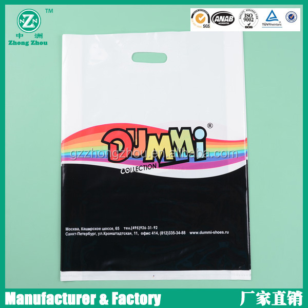 High quality die cut printing 40 microns plastic bag