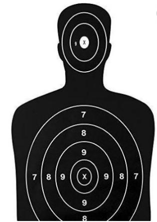 Silueta Objetivos Para Disparar en la Más Alta Calidad ...