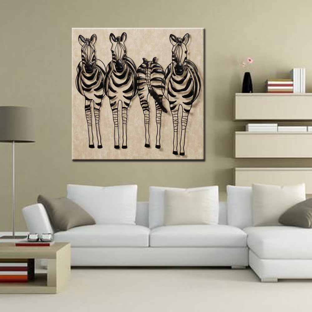 Metal Horse Wall Art Decor Zebra Abstract Decoration Crafts Whole Hot Iron Modern Desingn
