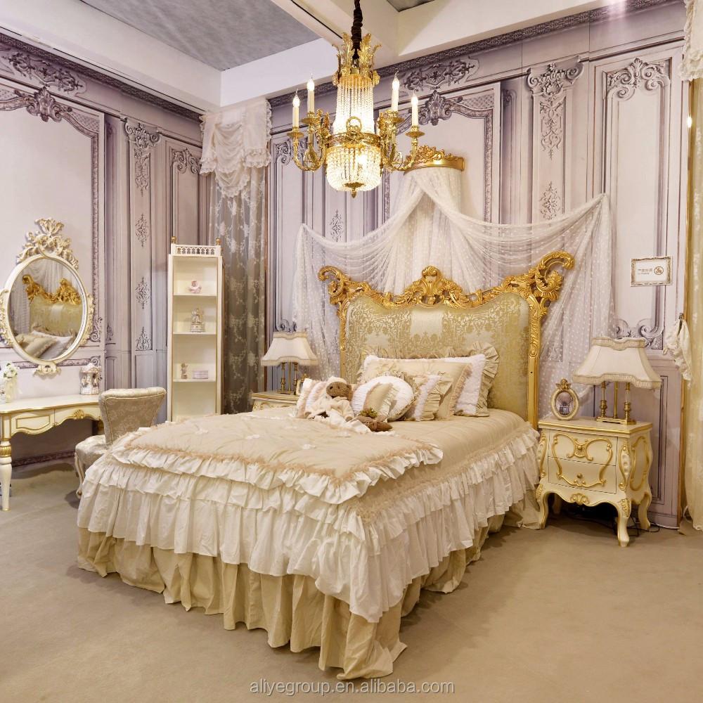 Wy102-b Royal Design Golden Luxury Bedroom Set Children