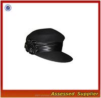 ZD401 Wholesale Fancy News Boy Black Wool Hat