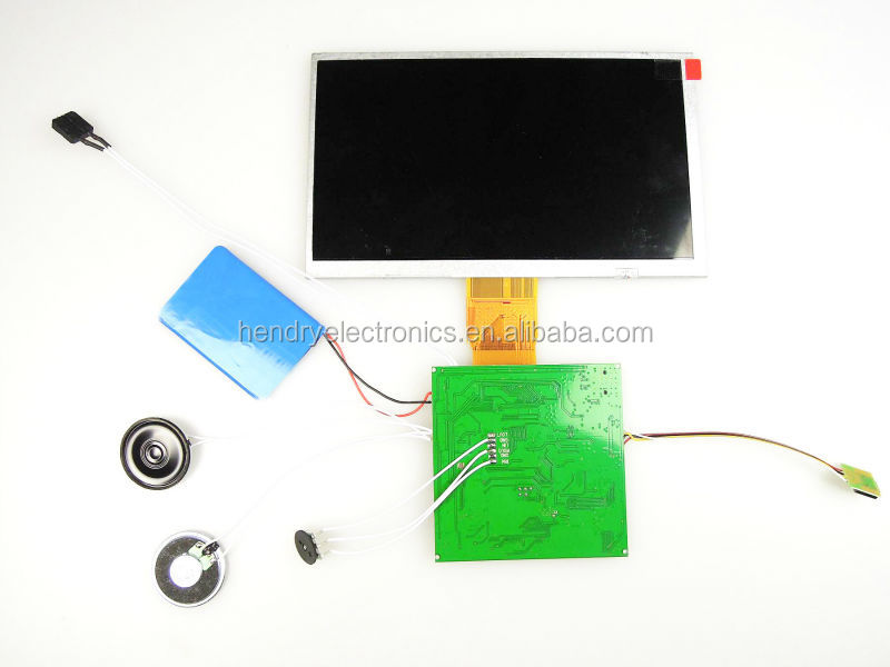 "7"" LCD Touch Screen Video Module with Rechargeable Li Battery"