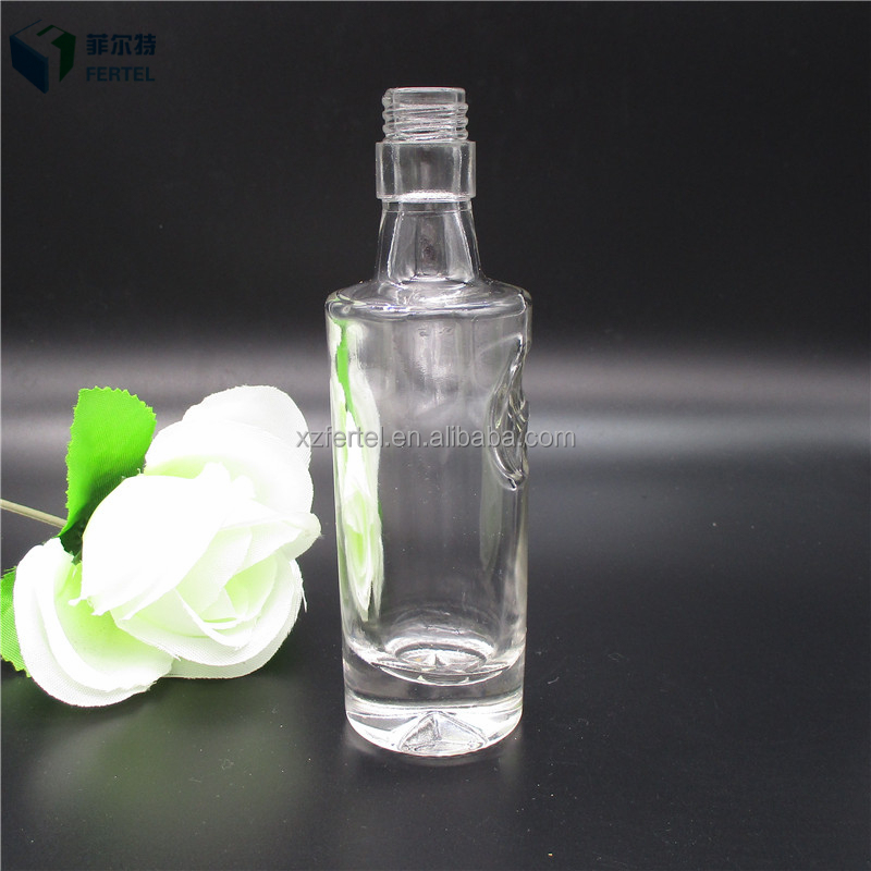 50ml champagne clear glass mini wine bottle low price