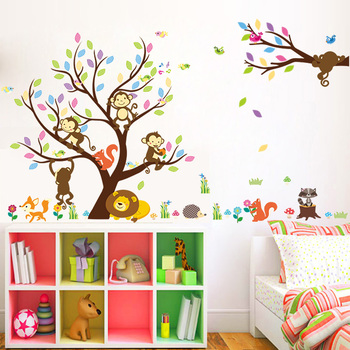 removable large tree 3d kids wall stickers