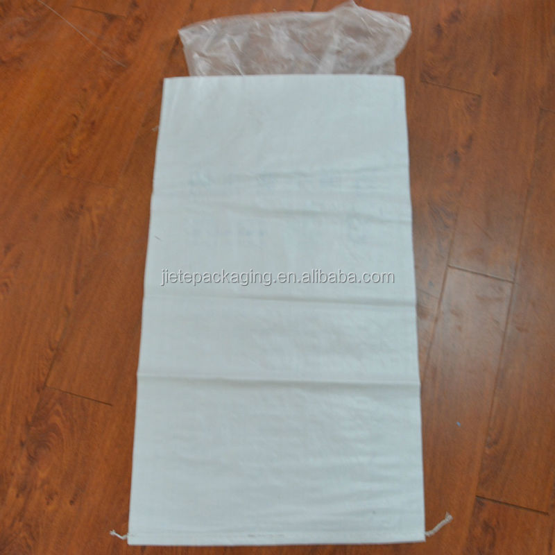 Factory product moisture-proof white pp woven bag with liner