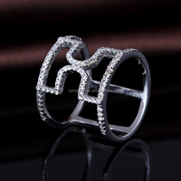 fashion jewelry 2016 925 silver platinum ring price in india