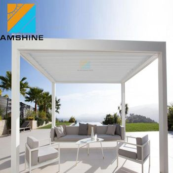 Aluminium Pergola 3x4m With Sliding Retractable Canopy Pergola