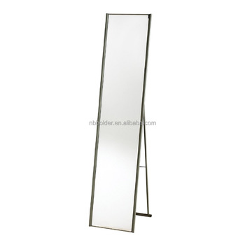 Large Metal Frame Full Floor Mirror With Stand Whole Body