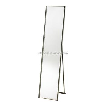 Grote Metalen Frame Volledige Floor Metalen Frame Spiegel Met Stand ...