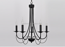 wholesale chinese cheap black church candle chandelier
