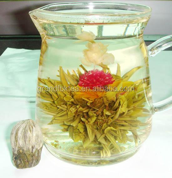 Die Lian Hua Butterfly Love Blooming tea Green tea silver needle with Marigold Jasmine Globe amaranth - 4uTea | 4uTea.com