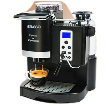 coffee machine with grinder single cup