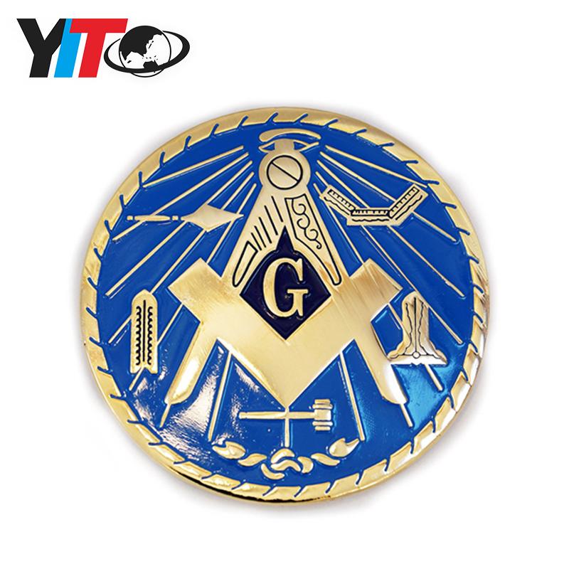 Mason Masonic Working Tool Car Emblem-New!