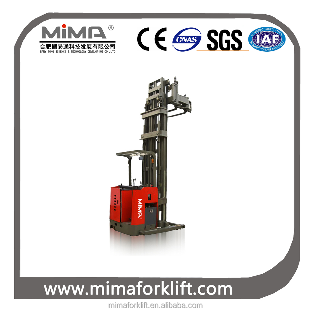 MIMA 3-Way Electric forklift Stacker for Cold Storage Use