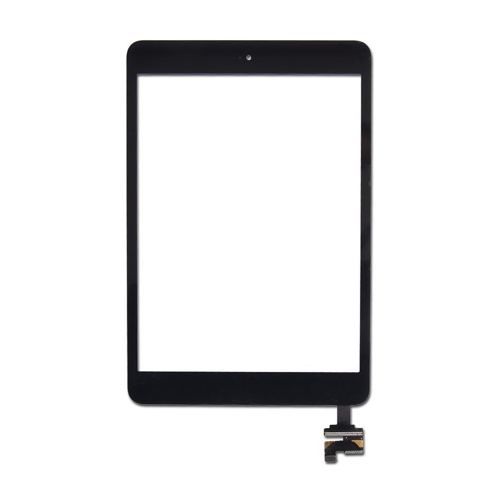 E-LeagueTM Ipad MINI 3 Touch Panel,Touch Screen Digitizer,Front Glass Lens Replacement Parts with Flex Cable+ic+home+Tool (Black)