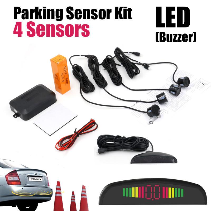 Автомобиль из светодиодов датчик парковки монитор автореверса резервное копирование радар-детектор система + из светодиодов дисплея 4 датчики 7 цветов на выбор оптовая продажа