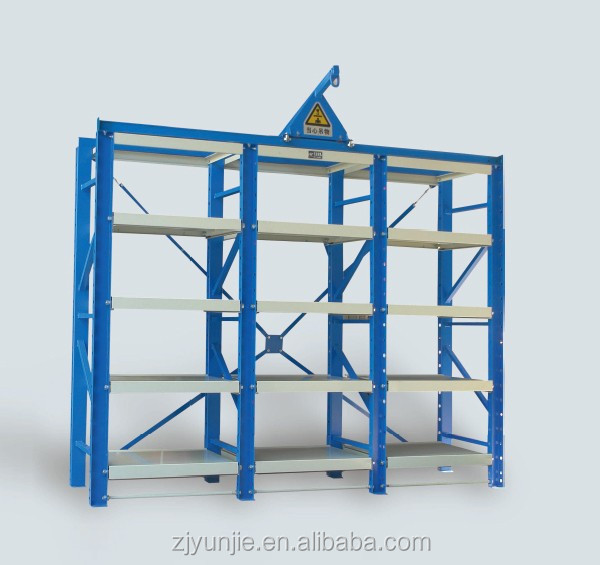 Metal Drawer Iron Storage Rack, Heavy Duty Mold Shelves for Warehouse Factory