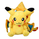 OEM kawaii stuffed anime character pikachu plush doll with cloak