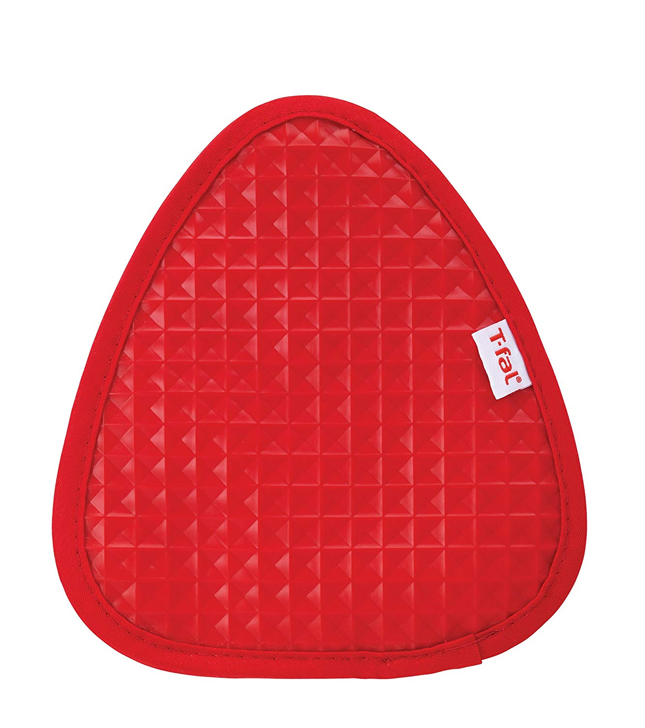 T-fal Textiles Silicone Waffle Softflex Non-Slip Grip 100% Cotton Twill Heat Resistant Pot Holder, 8.25-inches x 7.5-inches, Red