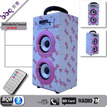 creative bow wood super bass bluetooth speaker subwoofer