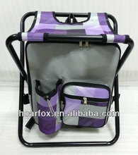 folded cooler chair with backpack for fishing