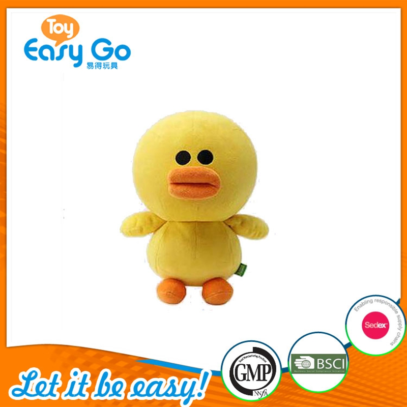 Traditional Farm Animal Stuffed Toy Customized Plush Yellow Duck Toy