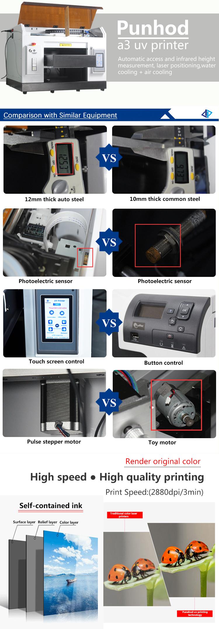 Nieuwe Collectie 67*67*50 cm A3 UV Flatbed Printer Voor Business