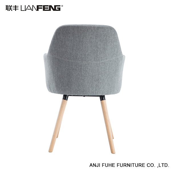 2017 High quality Modern furniture four wood legs leisure chair