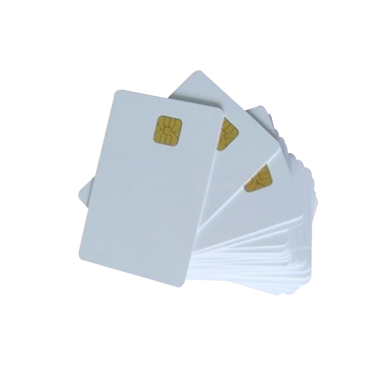 Bedrukking SLE4442 Lege Witte Plastic Contact IC Chip Smart Card met emv chip card technologie