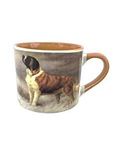 Extra Large Coffee Mug - St. Bernard Painting by American Kennel Club by AKC - American Kennel Club