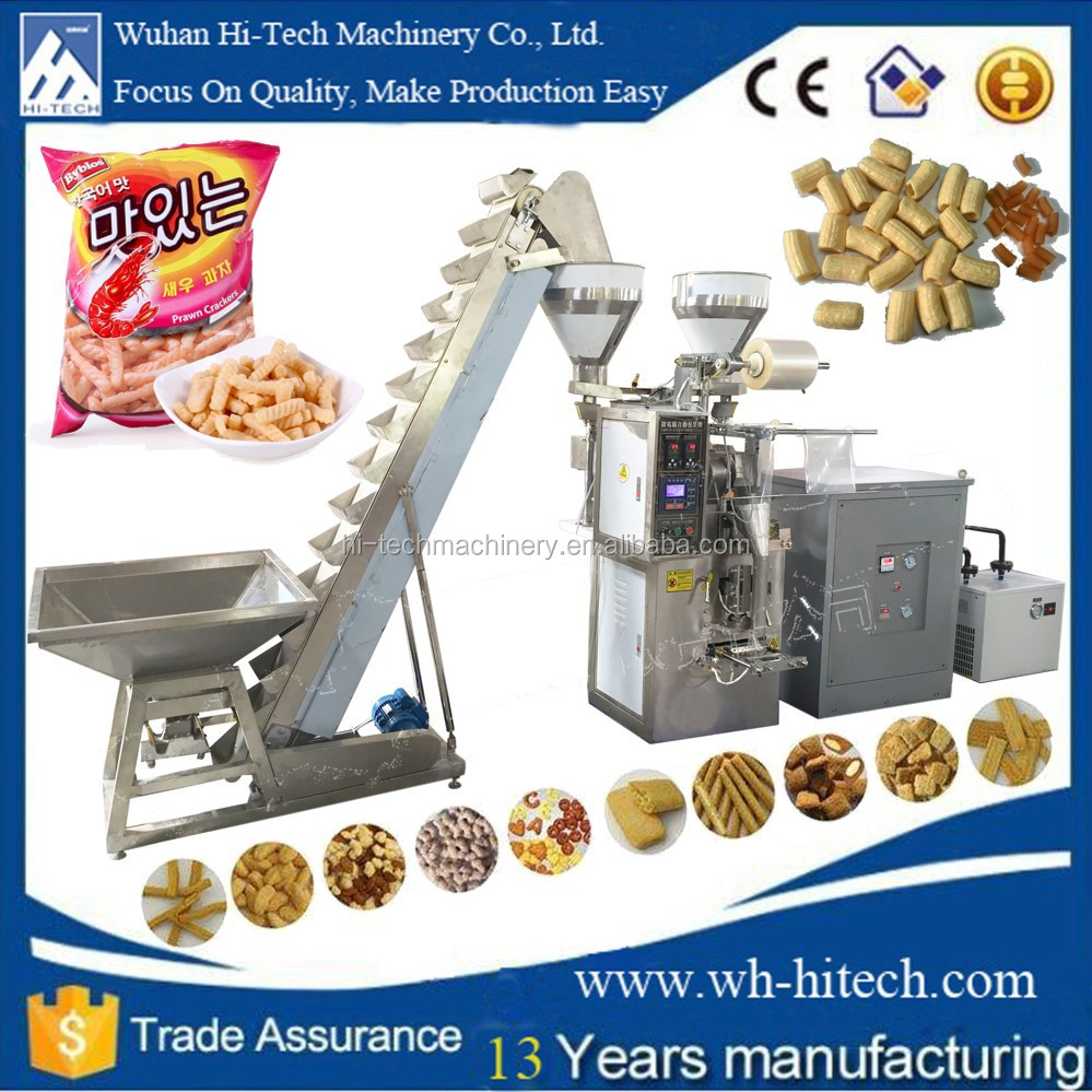 High Quality Fast Snacks Food Production Line with Packing System
