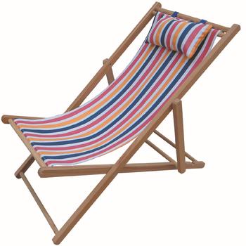 Foldable Style Beach Lounge Chair Wooden Beach Chair