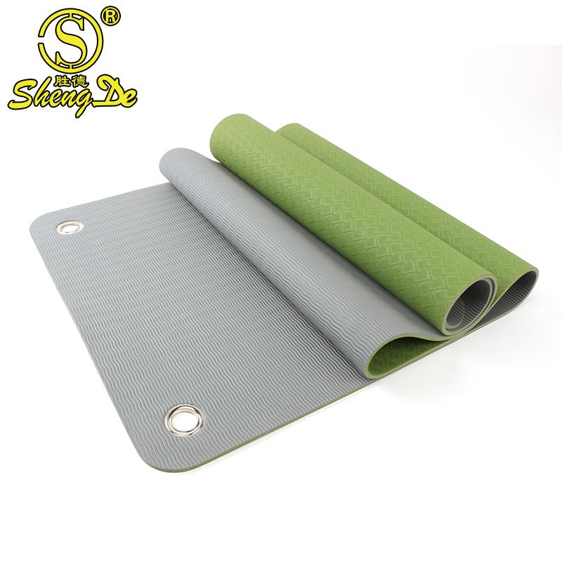 2019 günstige yoga matten mit loch zu hängen up printed eco