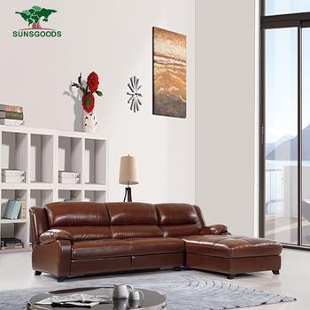 Top Quality Wholesale Price Leather Corner Sofa Setwooden Sofa