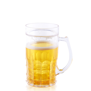 AA-0031 400ml Double wall freeze frosted beer mug ice cup with handle