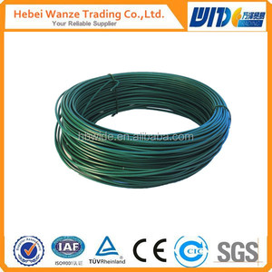 pvc coated aluminium wire/pvc coated binding wire/pvc coated wire rope
