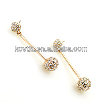 High quality ball pendant diamond long earrings african wear earring
