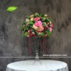 GNW Unique Crystal Candelabra Flower Wedding Table Decoration Centerpieces Home Table Decor Floral Rose Ball